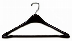 "Suit Hanger w/ Bar 17"" - Black"