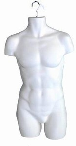 Male Hanging Torso Form (White)